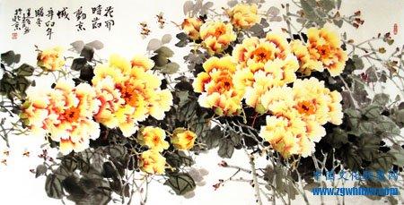 李建设牡丹作品《花开时节动京城》