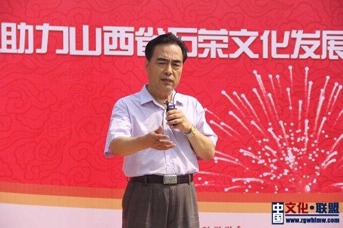 中国榜书艺术研究会副主席兼秘书长苑建国。